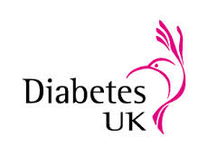 this picture shows a bird drawn in pink and the words diabetes uk