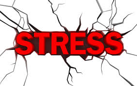 this image shows the word STRESS in bold red letters and crack marks around it