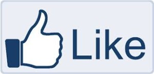 "this image shows a facebook ""Like"" thumb."