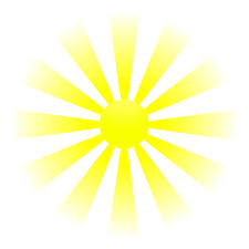 this image shows a cartoon clipart of the sun