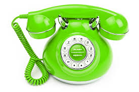 this image shows a green phone