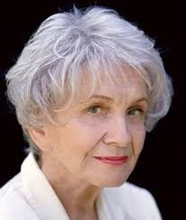 this image shows an older womans hairstyle.