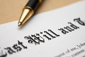 this image shows part of a last will and testament