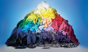 this image shows a multi coloured pile of clothes