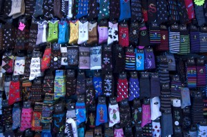 lots and lots of different colour socks