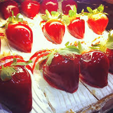 this image shows some delicious looking strawberries