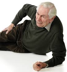 this image shows someone elderly who has fallen