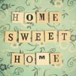 "this image shows the words ""home sweet home"""
