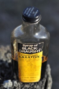a bottle of black draught laxative