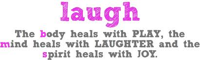this image shows the words laugh and what is good about laughter