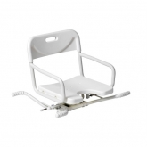 a seat that fits over a bath allowing the user to take a shower safely