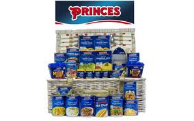 a hamper of princess tinned foods