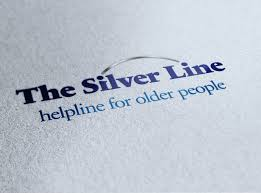 "this image shows the words in blue ""The silverline"" helpline for older people"""