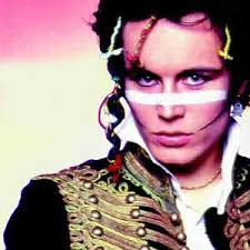 this image shows Adam Ant the former pop star