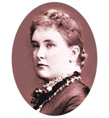 this black and white image shows a victorian woman