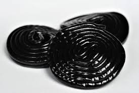 this picture shows 3 shiny rings of liquorice