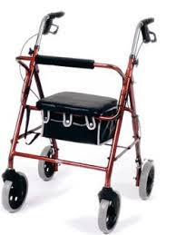 this image shows a walking aid with an integral carry box