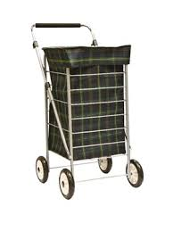 his shows a square shopping trolley