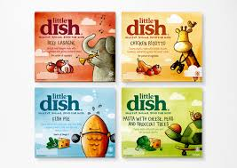 this image shows four of the range of little dish meals designed for children