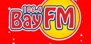 this image shows the wording BAY FM and 106.4