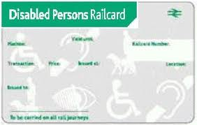 this image shows the disabled persons rail card