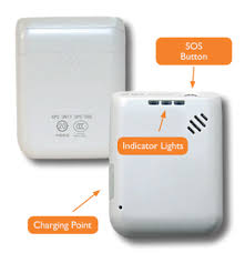 this image shows a small white gps tracker