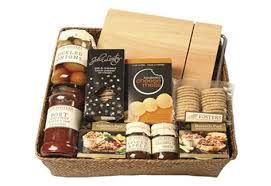 this shows a savoury hamper