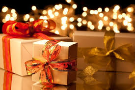 this image shows beautifully wrapped Christmas gifts