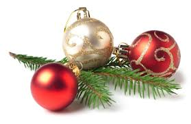 This image shows some Christmas baubles