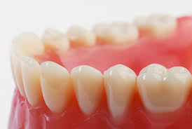 this image shows a set of false teeth