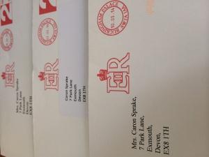 this image shows 3 Royal envelopes
