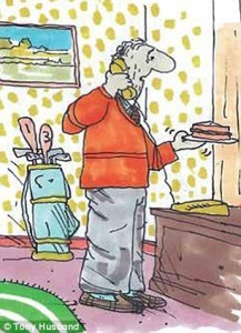 this is picture 13 in a series of cartoons by Tony Husband called the Saddest Goodbye about his Fathers dementia