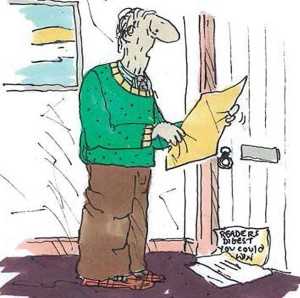 this is picture 19 of the series the saddest goodbye by Tony Husband about his fathers dementia