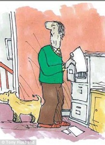 this image shows cartoon 20 of the series the saddest goodbye by Tony Husband the series about his Fathers dementia