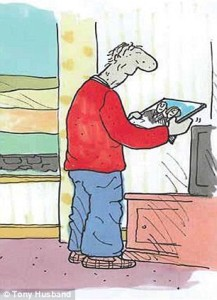 picture 3 in the series The Saddest Goodbye by Tony Husband.
