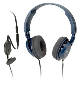 this image shows, a pair of corded headphones.
