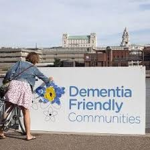 this image shows a sign saying Dementia Friendly communities