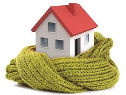 this image shows a home wrapped in a scarf