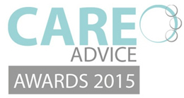 this image shows the logo for the care advice awards