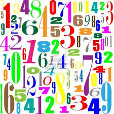 this image shows a pile of brightly coloured numbers