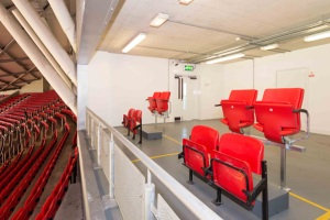 this image shows the new wheelchair users supporters area at Man U