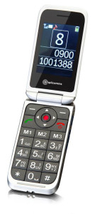 this image shows an old style flip phone