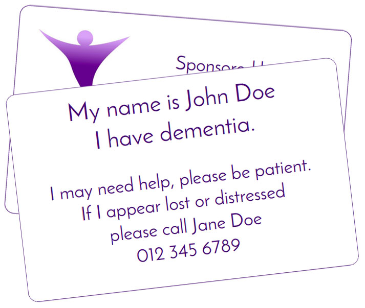 this is the dementia awareness card