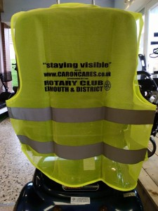 this image shows the Caron Cares high viz vests