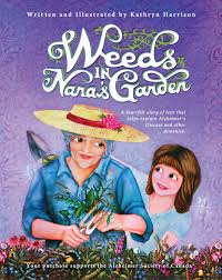 this image shows the book cover to Weeds in Nanas Garden