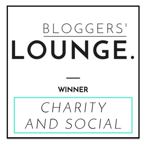 this image shows my winners badge from the Bloggers lounge