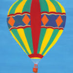 this image shows a hot air balloon from Active Minds