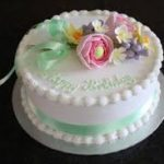 this image shows a lovely iced birthday cake