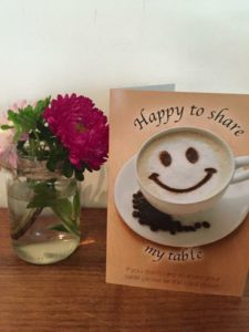 this image shows the happy to share cards that help reduce loneliness.