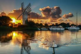 this image shows the Norfolk Broads